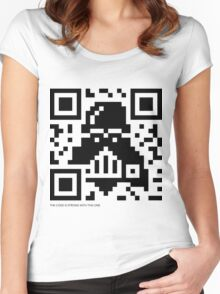 QR Code - Darth Vader Women's Fitted Scoop T-Shirt