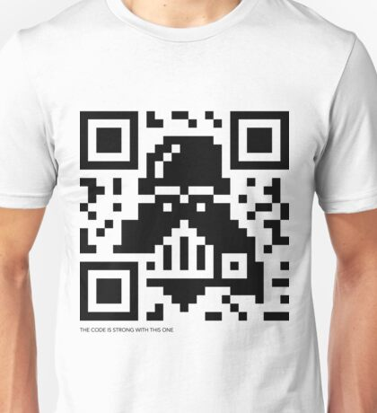 QR Code - Darth Vader Unisex T-Shirt