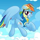 Rainbow Dash's Destiny Print by broniesunite
