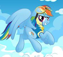 Rainbow Dash's Destiny Print by broniesunite