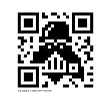 QR Code - Darth Vader Photographic Print