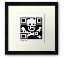 QR Code - Pirate flag Framed Print