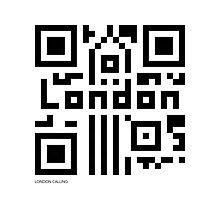 QR Code - London Photographic Print