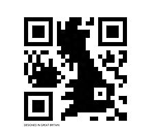 QR Code - Great Britain Photographic Print