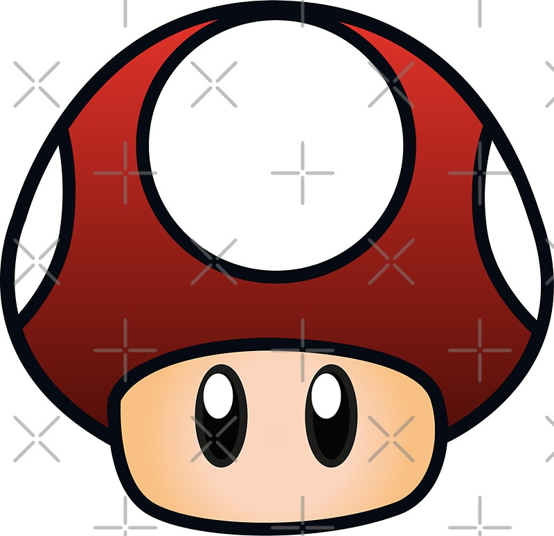 Quot Super Mario Mushroom Quot Stickers By Lauramazing Redbubble