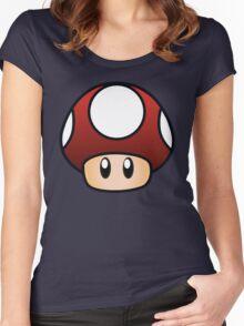 Super Mario Mushroom Women's Fitted Scoop T-Shirt