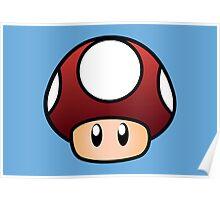 Super Mario Mushroom Poster