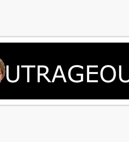 Judge Judy Outrageous Sticker