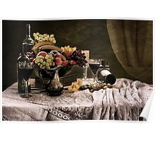 Fruit feast Still Life  Poster