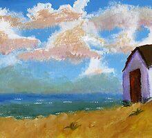Beach hut by Simon Rudd