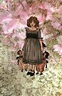 Kate Greenaway-Girl with Dolls iPhone Case by Pamela Phelps