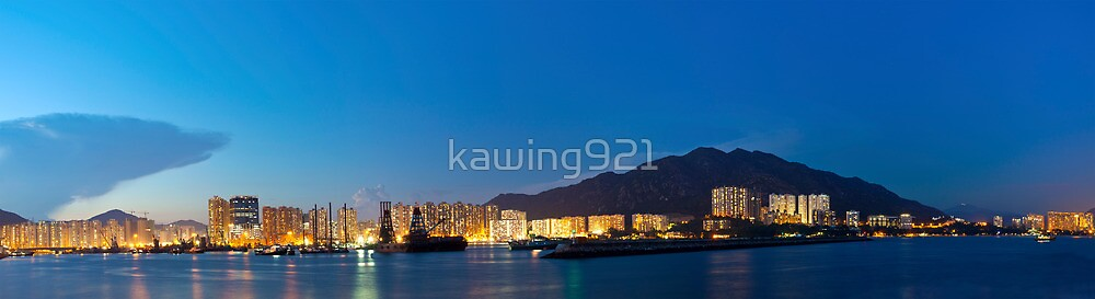Hong Kong downtown at dawn by kawing921
