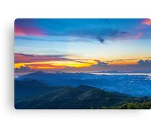 Majestic mountain landscape at sunset in Hong Kong Canvas Print