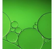 Green Bubbles Photographic Print