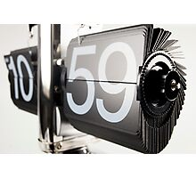flip clock Photographic Print