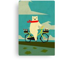 Yeti taking a Ride Canvas Print