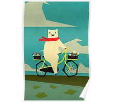 Yeti taking a Ride Poster