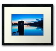 Lake landscape in Hong Kong Framed Print