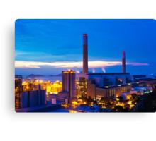 Power plant in Hong Kong at sunset Canvas Print