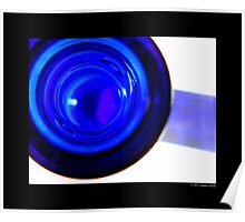 Cobalt Blue Glass Bottle Mouth Poster