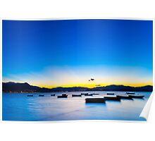 Sunset coast in Hong Kong Poster