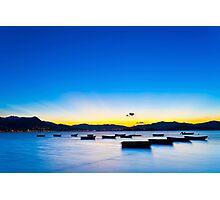 Sunset coast in Hong Kong Photographic Print