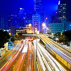 Hong Kong traffic at night by kawing921