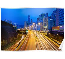 Traffic highway in Hong Kong Poster