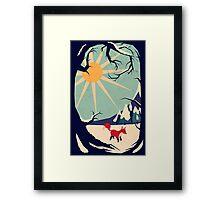 Fox roaming around II Framed Print