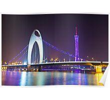 Guangzhou at night Poster