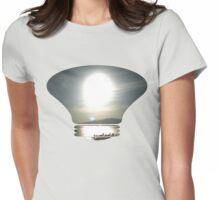 overexposed fullmoon Womens Fitted T-Shirt