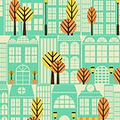 City Buildings Pattern by Ivaleksa