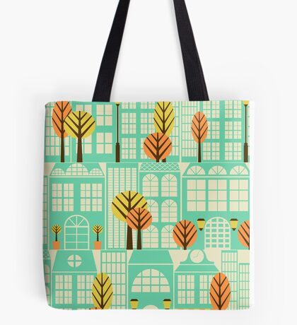 City Buildings Pattern Tote Bag
