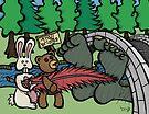 Teddy Bear And Bunny - Tempting Fate by Brett Gilbert