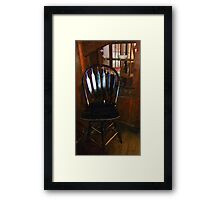 Hitchcock Chair in the Corner Framed Print