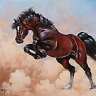 Good horse in the dust by dusanvukovic