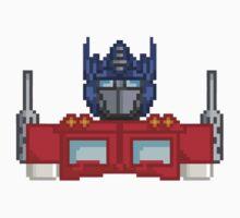 Optimus Prime Pixelated by Jimzydoodah