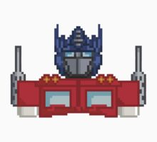 Optimus Prime Pixelated by Jimzydoodah