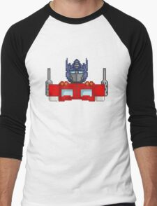 Optimus Prime Pixelated Men's Baseball ¾ T-Shirt