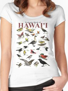 The Endemic Birds of Hawaii Women's Fitted Scoop T-Shirt