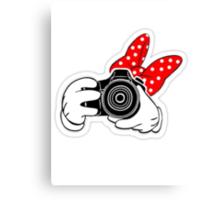 Minney Mouse SLR Canvas Print