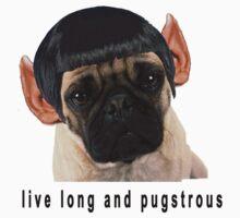 Retro Funny Humorous Star Trek PUG Print by wakpowwallop