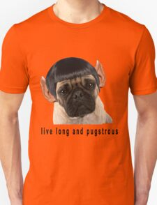 Retro Funny Humorous Star Trek PUG Print Unisex T-Shirt