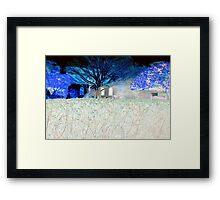 The neighbor's hedge Framed Print