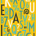 Retro Letters and Numbers by Ivaleksa