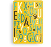 Retro Letters and Numbers Metal Print