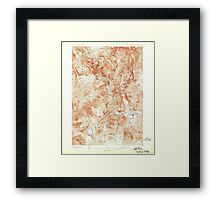 USGS TOPO Map New Hampshire NH Crawford Notch 329993 1896 62500 Framed Print