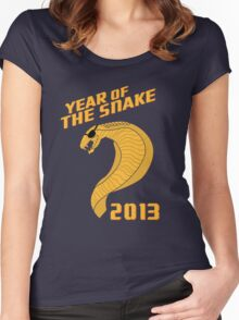 Year of the Snake (Escaped Version) Women's Fitted Scoop T-Shirt