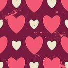 Cute Vintage Hearts by Ivaleksa