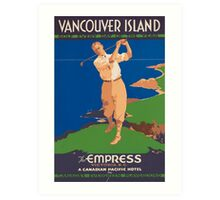 Vintage poster - Vancouver Island Art Print